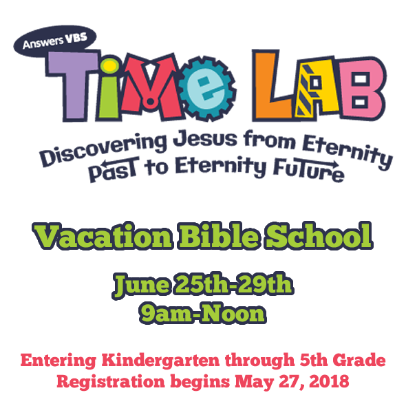2018 VBS Vacation Bible School